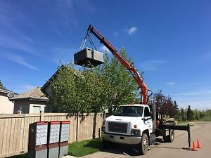 PICKER TRUCK FOR HIRE !!! HOIST SHEDS, HOT TUBS, BOULDERS ECT. Strathcona County Edmonton Area image 2