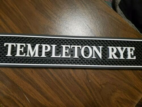 "NEW Templeton Rye Bar Mat 23"" x 3.25"" x .5"" Black & White"