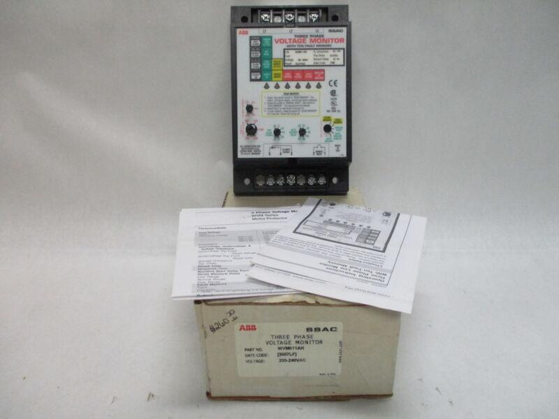 ABB SSAC WVM611AH 3-Phase Voltage Monitor 200-240VAC
