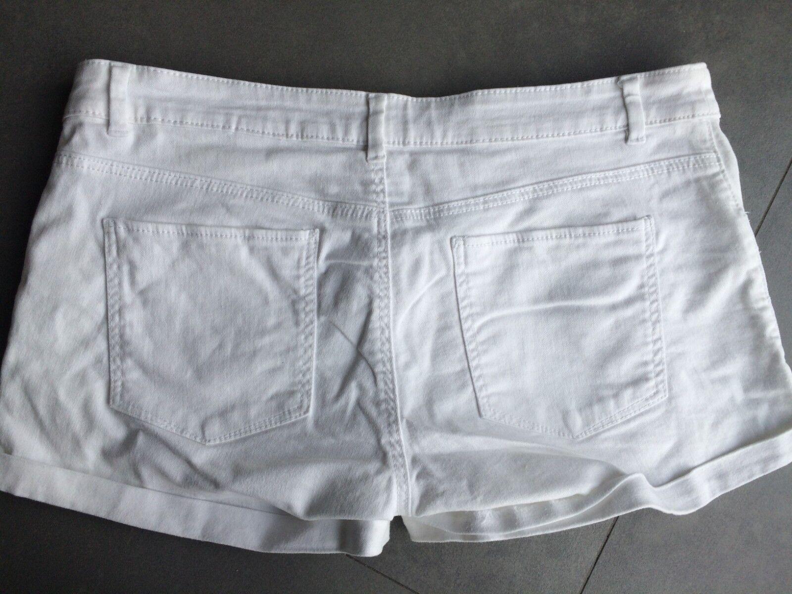 *** short blanc en coton h&m - taille 38
