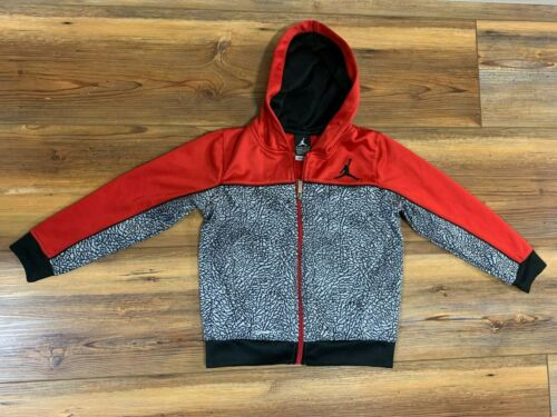 Nike Air Jordan therma-fit red/black Jacket (size  6-7 Years