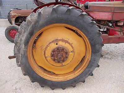 12.4 X 38 Armstr Tires 95 Mh Masey Harris 33 Tractor 9 Bolt Press Steel Rims