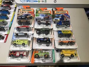Matchbox assorted cars/trucks/police car fire trucks