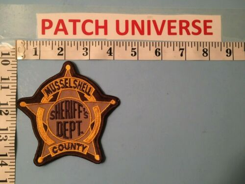 VINTAGE MUSSELSHELL COUNTY MONTANA SHOULDER PATCH  I133
