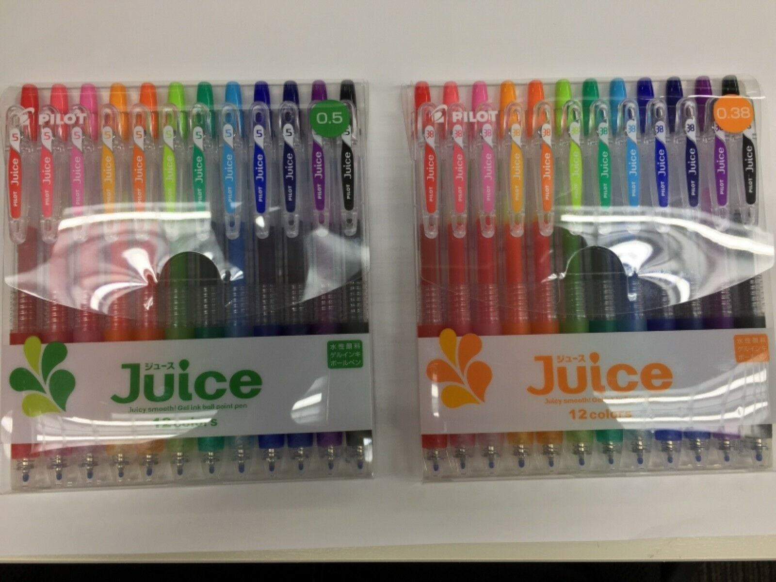 Juice Smooth! Gel Ink Ball Point Pen 0.38, 0.5 12 colors set