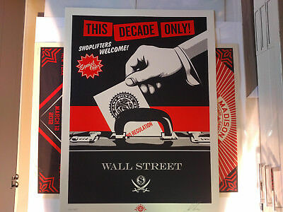 Shepard Fairey Limited Edition Art Print Shoplifters Welcome 2012