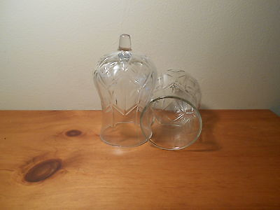 Clear Hurricane glass Votive Cups Lot of  2 Homco Home Interiors