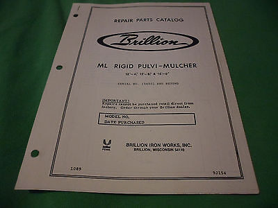 Drawer 16 Brillion Ml Rigid Pulvi-mulcher 12-4 13-8 Repair Parts Catalog