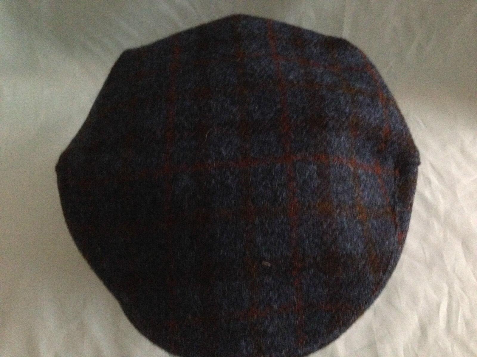 Herren blau Harris Tweed Schiebermütze fahren Hut Schottlands bunnit von
