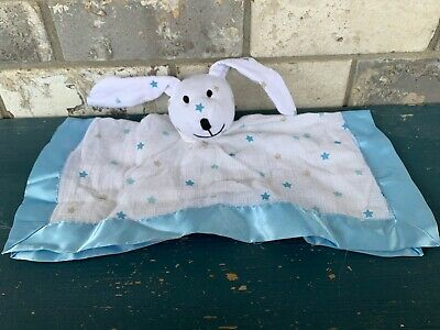 Aden + Anais Bunny Rabbit Lovey Security Blanket Musy Mate Blue White Stars Tan