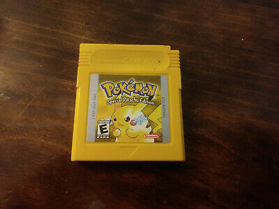 Gameboy Pokemon Yellow Pikachu Special Edition Authentic