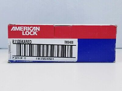 Lot Of 6 American Lock A1105kared Lockout Padlock Red D00408