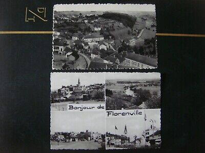 Lot de 2 jolies cartes de FLORENVILLE (superbe panorama vers Bois Concile-Multiv
