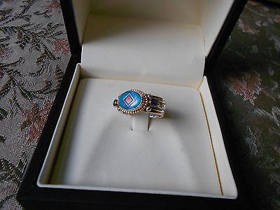 Valerie and Benny Aldrich 14k Sterling Gemstone Ring