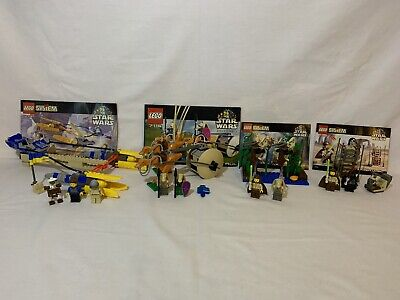 LEGO Star Wars Episode 1 Lot of 4: 7101, 7115, 7121, 7131, 100% Complete