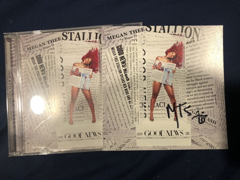 "Megan Thee Stallion ""Good News"" CD & Autographed Flat"