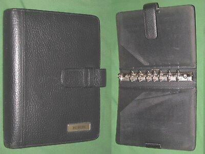 Desk 1.25 Black Leather Day Timer Planner Binder Franklin Covey Classic 8118