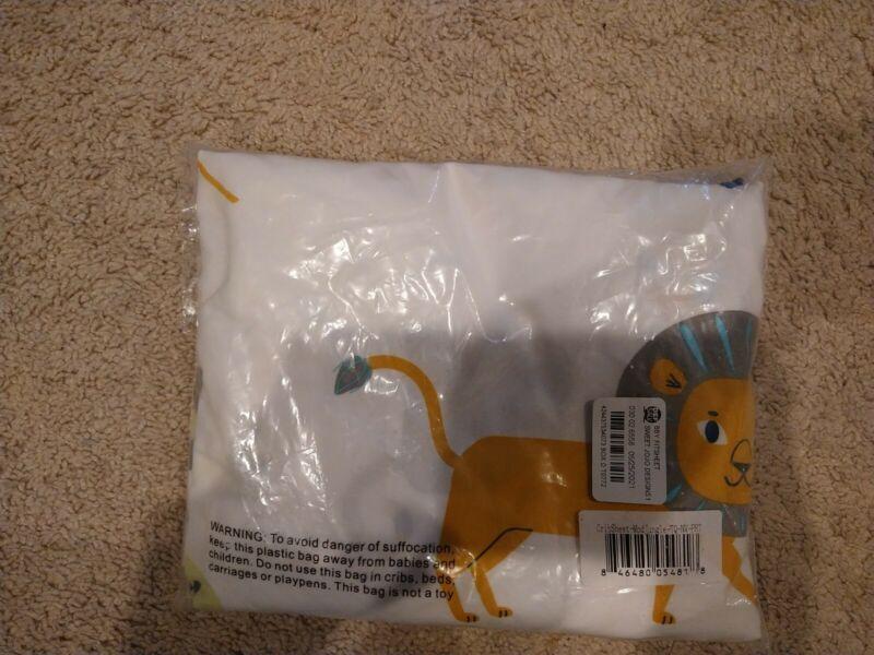 Sweet Jojo Blue Grey Mod Jungle Safari Animal Baby crib or Toddler Fitted Sheet