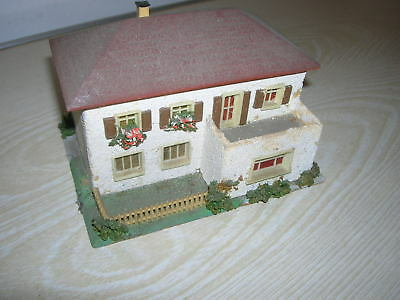 FALLER H0 HO Holzmodell Nr. 269 - Haus mit Terrasse - 50er Jahre