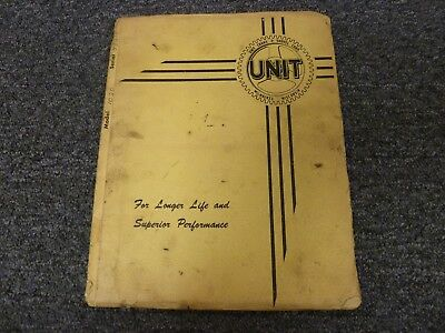 Unit Model 1020 Hydraulic Crawler Crane Parts Catalog Manual Book