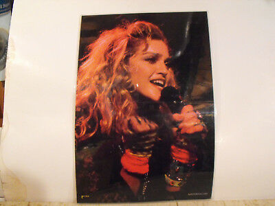 Vintage Laminated Color Photo of Madonna from 1985