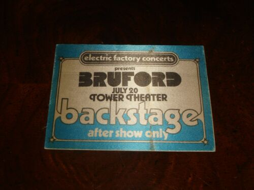 "Rare ""BRUFORD"" 1978 BACKSTAGE PASS Allan Holdsworth, Bill Bruford,Jeff Berlin UK"