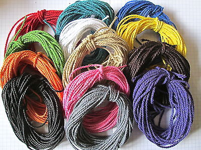 50mt of 2mm Thick Cotton Solid Colour Bakers Twine  Choice of  Colour