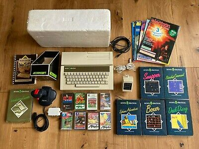 Acorn Electron Computer, Plus 1 Interface, Joystick, Polys, Software Bundle