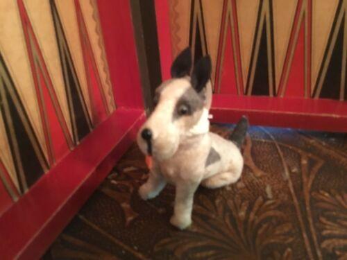 "Antique FRIPON FOX TERRIER dog BLEUETTE doll companion 5"""