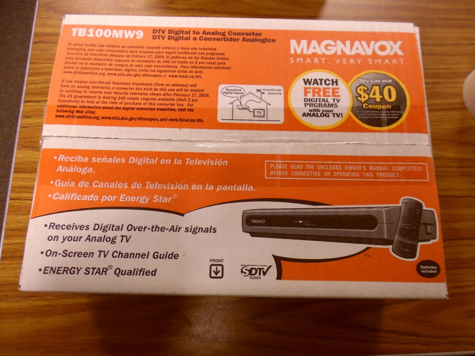 Magnavox DTV Digital to Analog Converter tb100mw9
