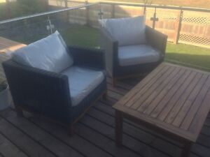 Solid Wood Based Patio Sofa & Chairs (NEW)