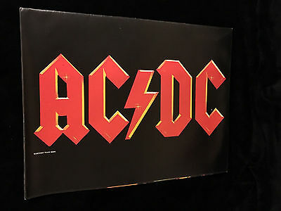 AC/DC CONCERT PROGRAM POSTER-1984 TOUR BOOK-NEAR MINT