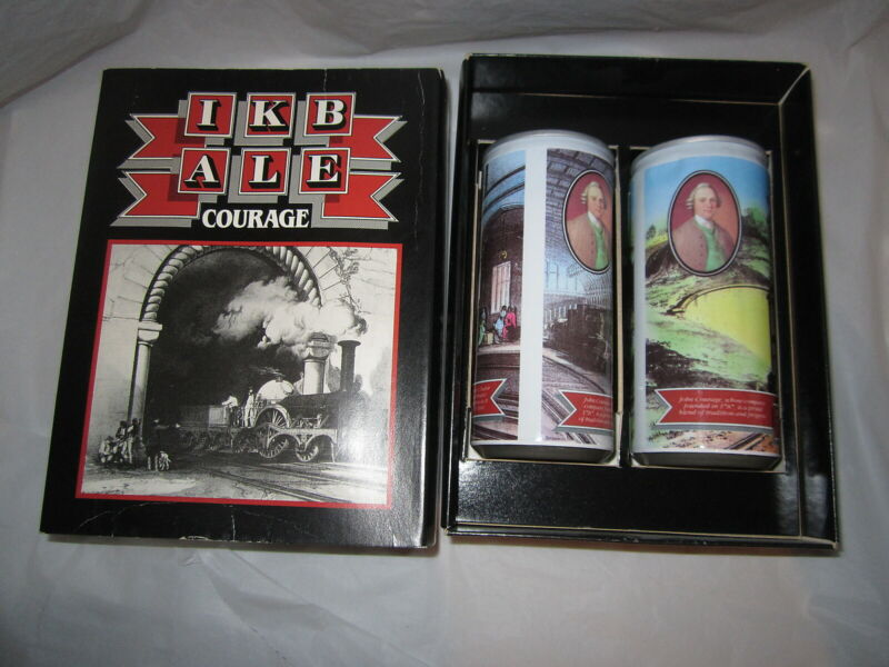 Courage IKB Ale Limited Edition Beer Can Set w/box & booklet #490/1000