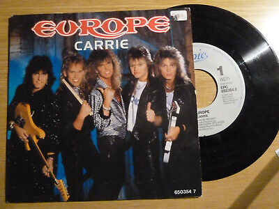 """7""""- EUROPE - Carrie 1987"""