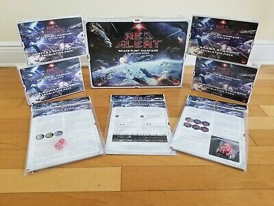 Red Alert - Space Fleet Warfare Boardgame + ALL 7 Expansions SUPERSALE
