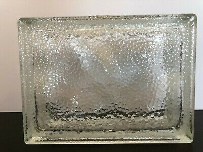 Vintage Glass Block 6x8x3 NEW Pittsburgh Corning Clear Frosted Edges ~ Cirrus