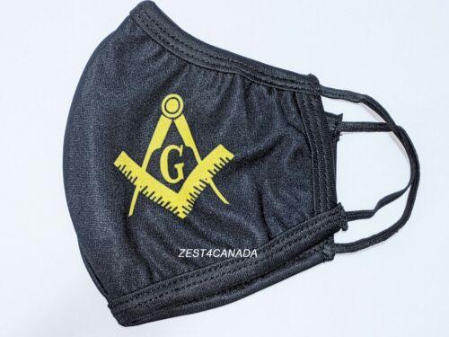 Masonic Master Mason Black Double Layered Face Mask with G Logo