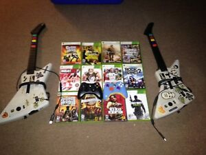 Xbox 360 games and guitars