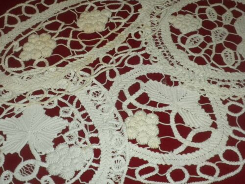 **Antique&Vintage Handmade 4 pcs Grape Cotton Cochet Lace Doilies**code:a961**