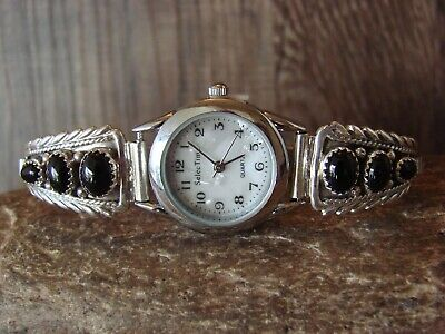 Native American Indian Jewelry Sterling Silver Onyx Lady