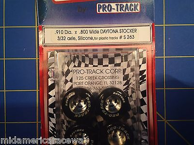 Pro Track S263 Daytona stockers .910 x .800 Silicone Tires 3/32 axle Mid America, used for sale  Downers Grove