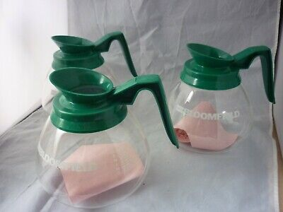 3 Commercial Coffee Pots Decanters Replacements Carafe For Bunn Germany Green