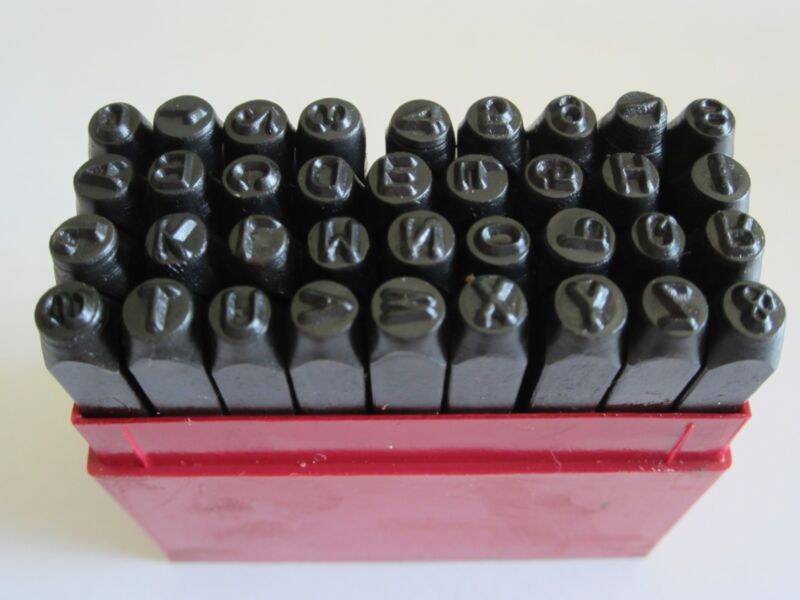 """1/4"""" Steel Letter and Number Stamps - 36 pcs"""