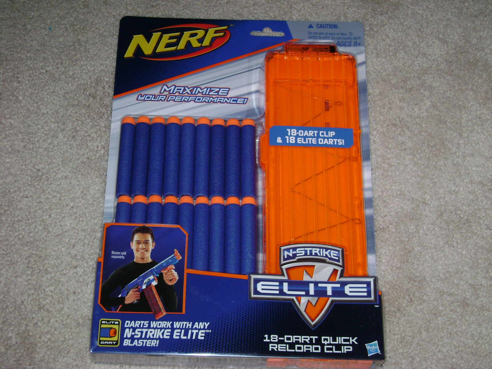 NERF 18 DART QUICK RELOAD CLIP...***SEALED***BRAND NEW***!!!