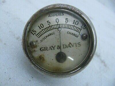 antique Gray & Davis Amp gauge Harley Davidson Indian jd vl knucklehead four