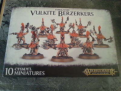 WARHAMMER AGE OF SIGMAR FYRESLAYERS VULKITE BERZERKERS - NEW & SEALED