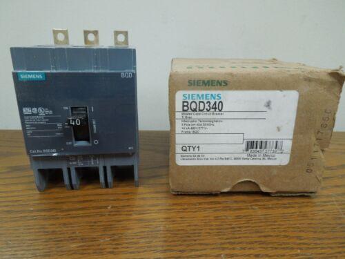 Siemens Bqd340 40a 3p 480v 50/60hz Circuit Breaker Type Bqd Used