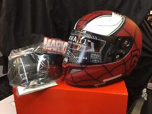 HJC RPHA 11 PRO MARVEL SPIDERMAN MATTE FINISH RED LARGE FREE DARK SHIELD