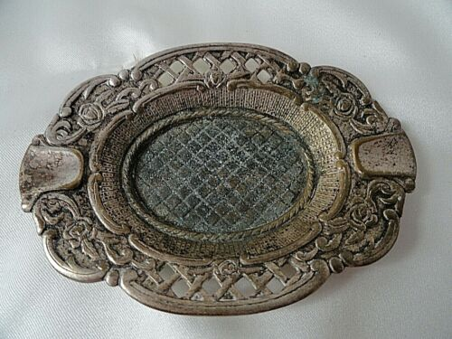 Vintage Miniature Silver Plated Ashtray 8 x 6 cm