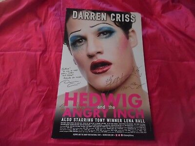 Darren Criss and Lena Hall Autographs on Hedwig and the Angry Inch (Hedwig And The Angry Inch Darren Criss)